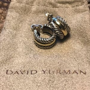 David Yurman Classic Cable Huggies Earrings